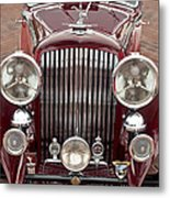 1934 Bentley 3.5-litre Drophead Coupe Grille Metal Print