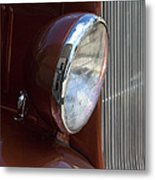1934 Ford Headlight And Grill Metal Print
