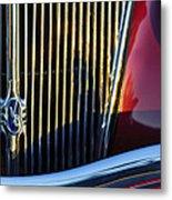 1936 Ford Phaeton V8 Grille Emblem Metal Print