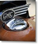 1936 Gmc Pickup Truck Hood Ornament Metal Print