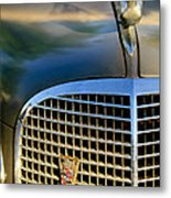 1937 Cadillac Hood Ornament And Grille Metal Print