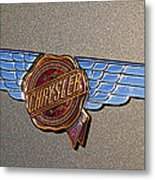 1937 Chrysler Airflow Emblem Metal Print