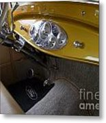 1938 Ford Roadster Dashboard Metal Print