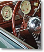 1940 Chevrolet Steering Wheel Metal Print