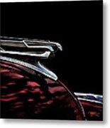 1940 Chevy Hood Ornament Take 2 Metal Print