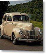 1940 Ford Deluxe Sedan Hot Rod Metal Print