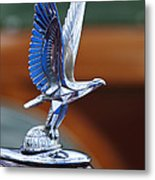 1940 Packard Custom Super-eight 180 Convertible Victoria Hood Ornament Metal Print