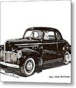 Studebaker Business Coupe Metal Print