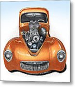 1941 Willys Hotrod Metal Print