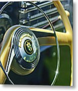 1942 Lincoln Continental Cabriolet Steering Wheel Emblem Metal Print