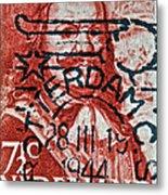 1944 Netherlands De Ruyter Stamp - Rotterdam Cancelled Metal Print