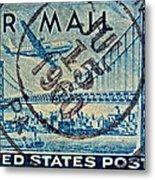 1946 Oakland Bay Bridge Air Mail Stamp Metal Print