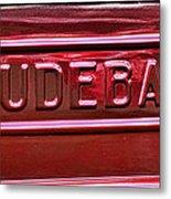 1947 Studebaker Tail Gate Cherry Red Metal Print