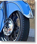 1948 Indian Chief Motorcycle Wheel Metal Print