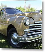 1949 Plymouth Delux Sedan . 5d16207 Metal Print