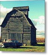 1950 Cadillac Barn Cornfield Metal Print