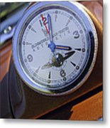 1950 Oldsmobile 88 Dashboard Clock Metal Print