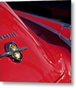 1950 Oldsmobile Rocket 88 Rear Emblem And Taillight Metal Print