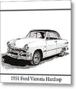 1951 Ford Victoria Hardtop Metal Print