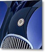 1951 Jaguar Proteus C-type Grille Emblem 4 Metal Print by Jill Reger