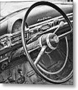 1951 Nash Ambassador Interior Bw Metal Print