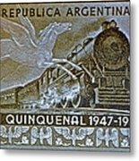 1951 Republica Argentina Stamp Metal Print