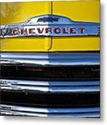 1952 Chevrolet Grille Emblem Metal Print