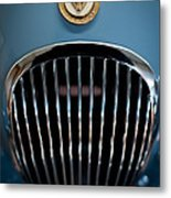 1952 Jaguar Hood Ornament And Grille Metal Print