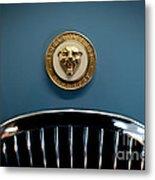 1952 Jaguar Hood Ornament Metal Print by Sebastian Musial