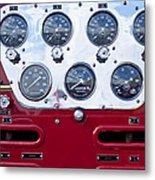 1952 L Model Mack Pumper Fire Truck Controls Metal Print