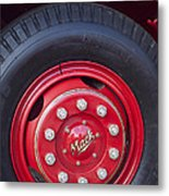 1952 L Model Mack Pumper Fire Truck Wheel 2 Metal Print