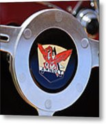 1953 Arnolt Mg Steering Wheel Emblem Metal Print