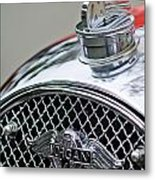 1953 Morgan Plus 4 Le Mans Tt Special Hood Ornament        Metal Print