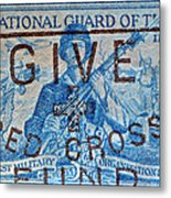 1953 The National Guard Of The U. S. Stamp Metal Print