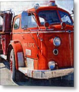 1954 American Lafrance Classic Fire Engine Truck Metal Print by Kathy Clark