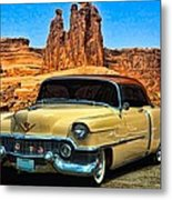 1954 Cadillac Coupe Deville Metal Print by Tim McCullough