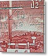 1954 Centenary Of Australian Telegraph Stamp Metal Print