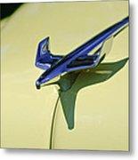 1954 Chevrolet Belair Hood Ornament 2 Metal Print