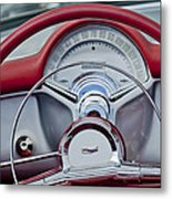 1954 Chevrolet Corvette Steering Wheel Metal Print