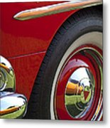 1954 Hudson Hornet Wheel And Emblem Metal Print