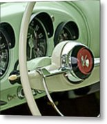 1954 Kaiser Darrin Steering Wheel Metal Print