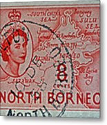 1954 North Borneo Stamp Metal Print
