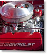 1955 Chevrolet 210 Engine Metal Print