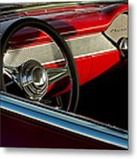 1955 Chevrolet 210 Steering Wheel Metal Print