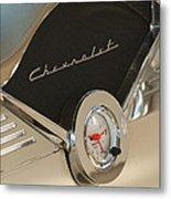1955 Chevrolet Belair Clock Metal Print