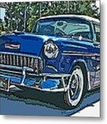 1955 Chevy Bel Air Metal Print by Samuel Sheats