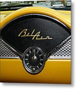1955 Chevy Belair Clock Metal Print
