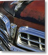 1955 Chrysler Hood Ornament Metal Print
