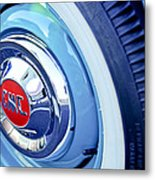 1955 Gmc Suburban Carrier Pickup Truck Wheel Emblem Metal Print