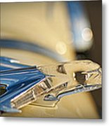 1955 Pontiac Star Chief Hood Ornament  Metal Print